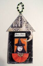 Halloween Ornament Witch Decoration Tree Hanger ACEO ATC Free Shipping