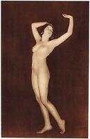 1920s Vintage German Female Nude Model Art Deco Fiedler Photo Gravure Print