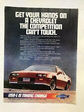 Chevrolet Camaro Z28 Vintage 1980's Print Ad