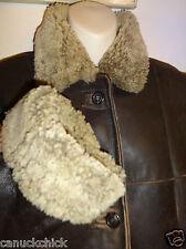 $1800 Via Firenze Womens 12 LONG 100% Sheepskin Shearling Coat Medium Large M L