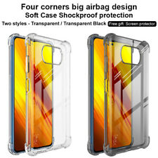 For Xiaomi POCO X3 NFC Case IMAK Clear Shockproof Airbag Soft Gel TPU Back Cover
