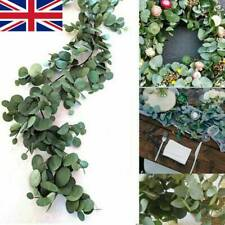 2m Artificial Fake Eucalyptus Garland Plants Greenery Foliage Leaves Green Ivy