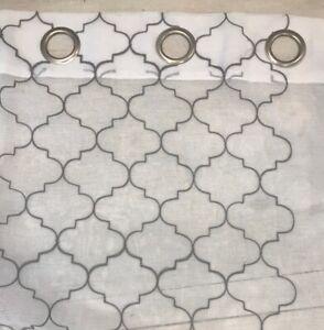 "Pair Light Filtering Grommet Top Curtain Panels Gray Design 38""x96"""
