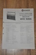Hitachi KCT-1201L Radio and cassette recorder Genuine Service Manual
