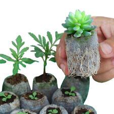 100 Pcs Plant Nursery Pot Seedling Raising Non-woven Bag Holder Garden Supply