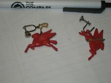 petrolaiana  Mobilgas flying horse earings, old rare and unusual collector item,