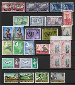 3 scans-Collection of MINT & good used Swaziland stamps & Mini Sheets.