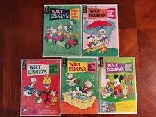 Gold Key Comics Walt Disney's Comics & Stories 5 Vintage Comic Book Lot