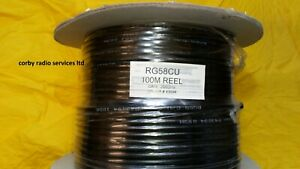 RF ANTENNA CABLE 5 MTS RG58 CU QUALITY TWO WAY TAXI RADIO CB RF CO-AX MOBILE