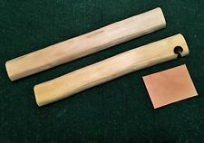 Bow Drill Fire Board or Hearth Board made from Sotol + Leather Coal Catcher