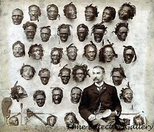 Horatio Gordon Mobley with Shrunken Heads - 1895 - Historic Photo Print