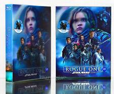 ROGUE ONE A STAR WARS STORY [Blu-Ray+DVD] 3-DISC (STEELBOOK) Lenticular 550 Copy