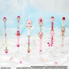 Ojamajo Doremi Happy Lucky Poron Stick Rod Wand Charm Premium Set Bandai Japan