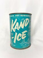 The Original Kand Ice- Vintage Advertising Can- Manufactured In Boise, Idaho