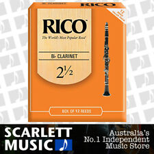 Rico Bb Clarinet 10 + 2 Extra Reeds, Strength 2.5 ( 2 1/2 ) 12-pack RCA1225