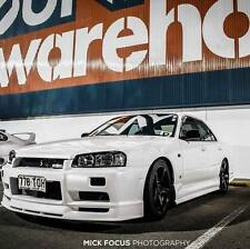 NISSAN R34 GTT GT 4DOOR SEDAN TYPE R STYLE SIDE SKIRTS JSAI AERO