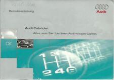 AUDI CABRIO Betriebsanleitung 1996 Bedienungsanleitung CABRIOLET Handbuch BA