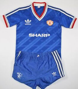 1986-1988 MANCHESTER UNITED ADIDAS FOOTBALL KIT (SIZE Y)