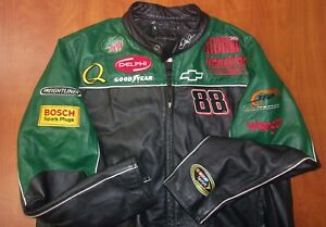 Wilsons Leather NASCAR Dale Earnhardt Jr Authentic Genuine Leather Jacket XL
