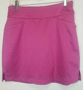 NEW Lady Hagen Golf Skirt Size 4 Pink Print Shorts Lined Pockets Tennis Sport