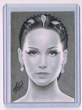 2017 ACEO Sketch Card JENNIFER LAWRENCE Katniss Everdeen 1/1