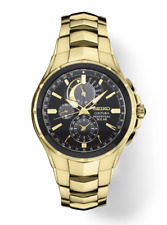 Seiko Coutura SSC700 Perpetual Solar Alarm Chronograph Gold Tone Men's Watch