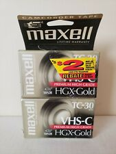 Maxwell Camcorder Video Tape Vhs-C Tc-30 Hgx Gold 2-Pack