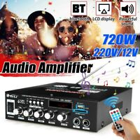 720W HIFI bluetooth  Audio Power Amplifier Karaoke FM Radio Player Home