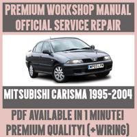 WORKSHOP MANUAL SERVICE & REPAIR GUIDE for MITSUBISHI CARISMA 1995-2004