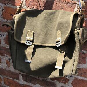 Army Respirator Canvas Kit Bag Military Militaria Re-enactment ARP Stage Prop