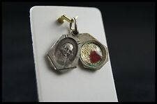 † ST JOHN MARY BAPTIST VIANNEY RELIQUARY THE CURE OF ARS RELIC LOCKET PENDANT †