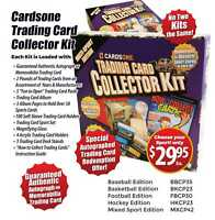 Trading Card Collector Kit  MIXED SPORT EDITION Great Collector Box ! Autograph
