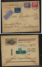 Sweden nice franking ad cover to London 1938 Kl0306
