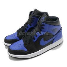 Nike Air Jordan 1 Mid Se игра королевский синий черный белый мужские туфли AJ1 554724-077