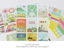 Lot 12 sheet Diary deco Stickers Travel Stamp Message Photo tag Korean PVC cute