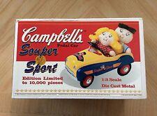 NEW Campbell's Souper Sport Diecast Pedal Car - XONEX 1:3 Scale Limited Edition