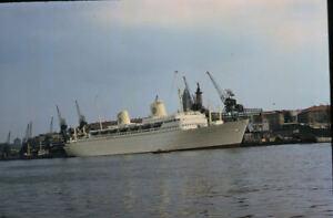 1958 MS Kungsholm Steamship Passenger Ship Original Amateur Color Slide