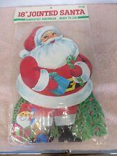 Vintage American Greetings Die Cut Christmas Decoration - Santa Claus - NEW