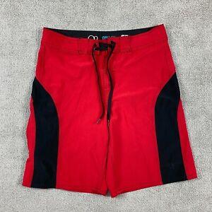 OP Flex Men's Shorts Size 32 Swim Trunks 4-Way Stretch Red Polyester Zipper
