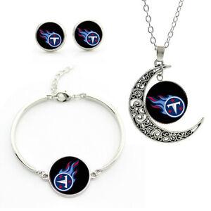 NF66 Tennessee Titans team logo set -necklace, bracelet, earrings-