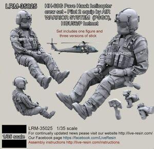 1/35 scale resin figure model kit Modern US military co-pilot Unpainted