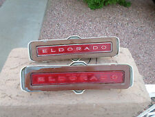1972-78 CADILLAC ELDORADO REAR SIDE MARKER LIGHT ASSEMBLIES COMPLETE OEM (2)