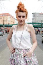 Uccetto Exquisit Damen DDR Bluse GDR shirt Top weiß white 80er True VINTAGE 80´s