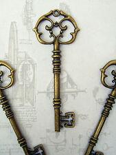 Skeleton Keys Steampunk Large 82mm Antiqued Bronze 50 Pcs Rustic Vintage Wedding