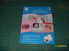 """June Tailor IRON ON PRINT 'N PRESS TRANSFER SHEETS - 8 1/2""""x 11"""" - 3 sheets"""