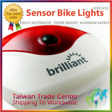 brilliant Bike LED Automatic Wireless Sensor Brake Rear Light Lamp Made inTaiwan