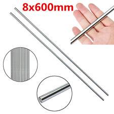 2PCS OD 8mm*600mm CNC Linear Rail Shaft Rod Cylinder Optical Axis Bearing Steel