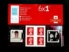 GB 2017 SG PM56 David Bowie s/adh Retail Booklet with Cyl Numbers