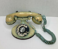 Bell System Western Electric VTG Antique Rotary Dial D1 Phone With F1 Hand Set