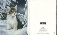1 CHRISTMAS KITTEN CAT SNOW STARS 1 MINCEMEAT PIE JAM BAKER THANKSGIVING PRINT